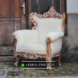 Jual Sofa Jati Karma Chair Putih
