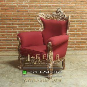Jual Sofa Klasik Karma Chair Merah
