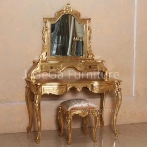 Meja Rias Versailles French Style Gold Leaf