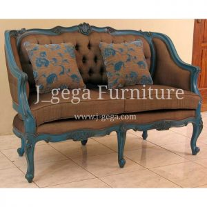 Sofa 2 Dudukan Ivanne Cat Duco Blue