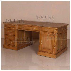 meja kantor kayu jati model european pine