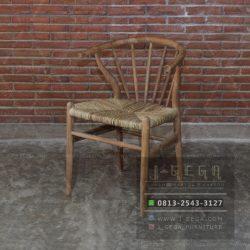 Harga Jual Slatback Wishbone Chair Loom