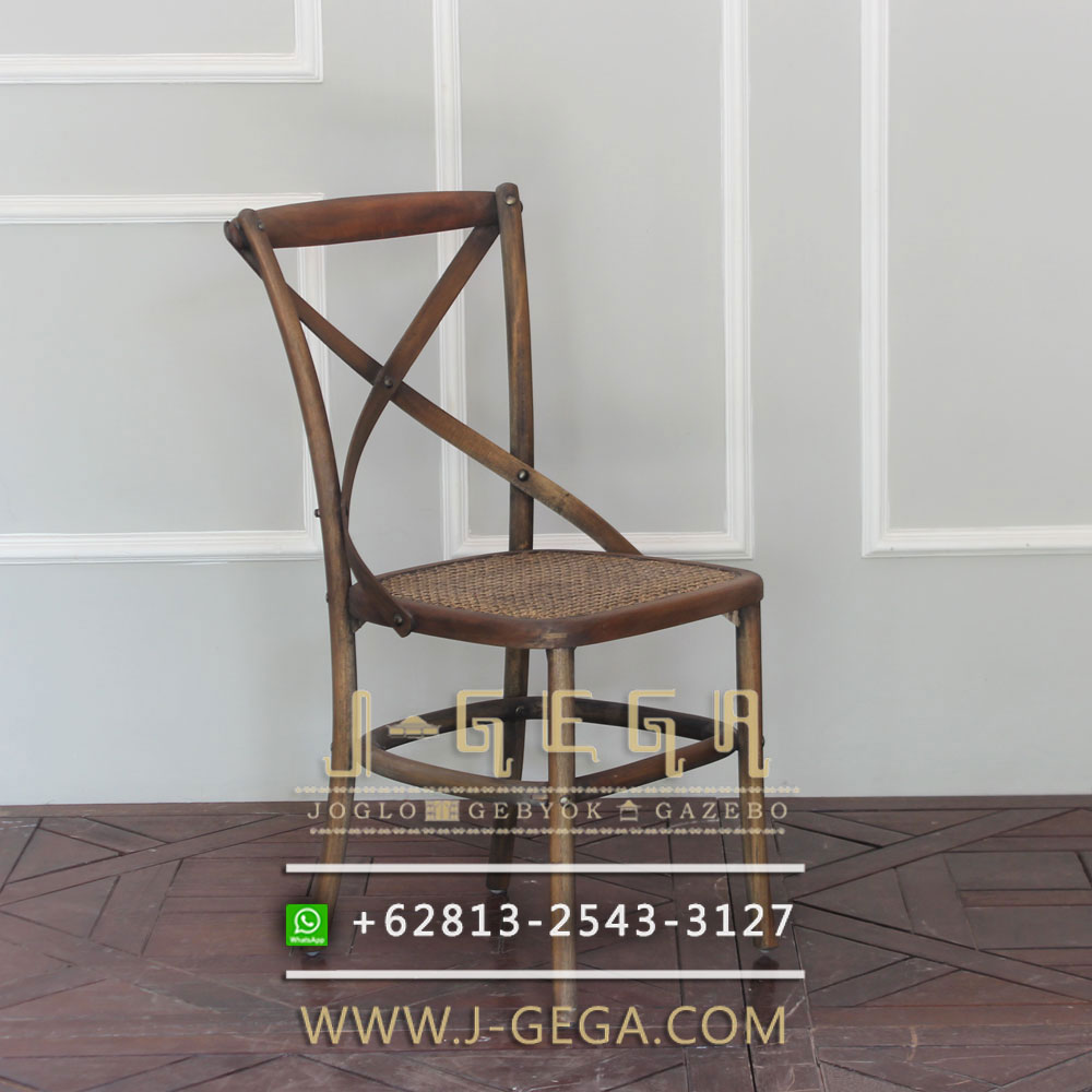 Jual Kursi Cafe Natural Croos Back Rattan