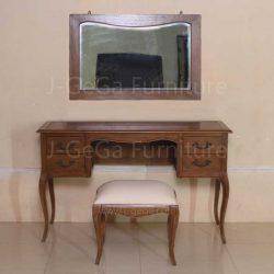 Jual Meja Rias Klasik Moderen Laci 4 With Mirror dan Stool