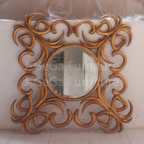 Jual Pigura Cermin Hias Coconut Ribbon Gold