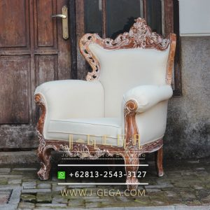 Jual Sofa Jati Karma Chair Putih