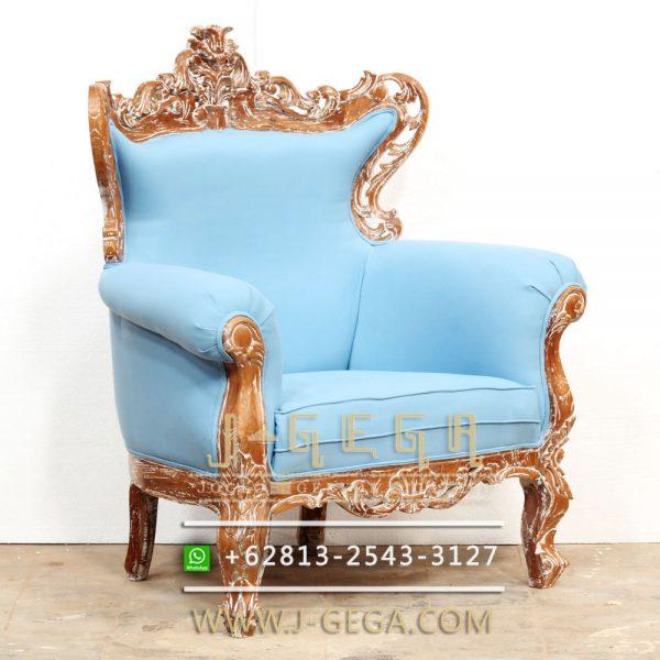 Jual Sofa Klasik Karma Chair Biru