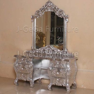 Meja Rias Racoco French Style Silver
