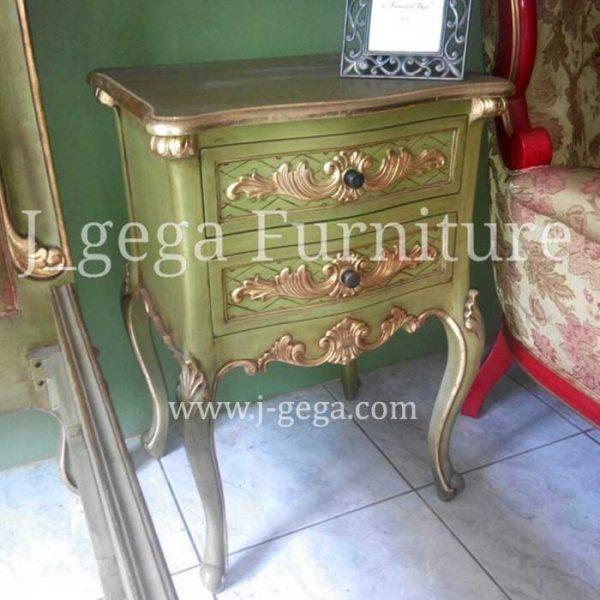 Meja Nakas French Louis XV Nightstand 2 Drawers