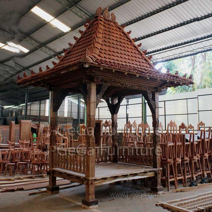 Pusat Jual Gazebo Jati Janggala Taman
