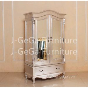 RAR 097 Raphael Louis Elegance Wardrobe Knockdown, Silver Leaf (3)