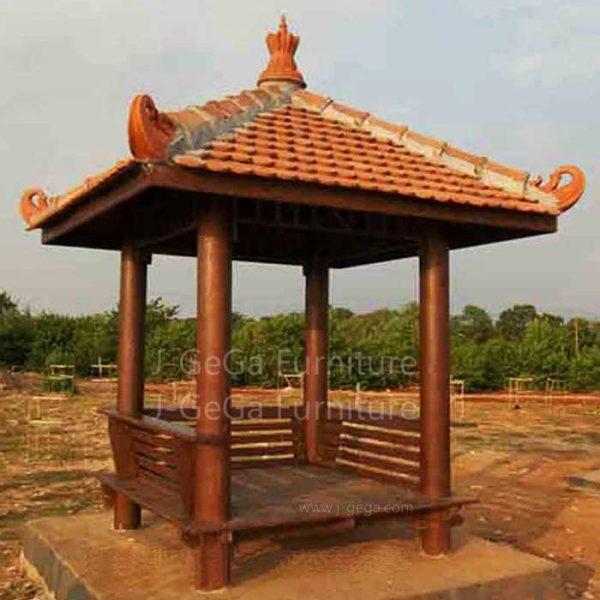 Jual Saung Gazebo Kayu Glugu Kelapa