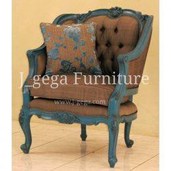 Jual Sofa 1 Dudukan Ivanne Blue Paint