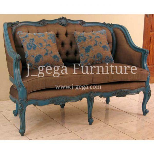Sofa 2 Dudukan Ivanne Cat Duco Blue