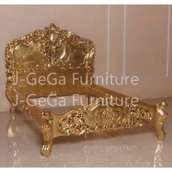 Tempat Tidur Rococo Bed Mewah Deco Emas