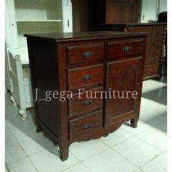 buffet antik 5 laci 1 pintu model cacatan