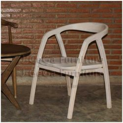 kursi ainhoa model skandinavia putih untuk restoran