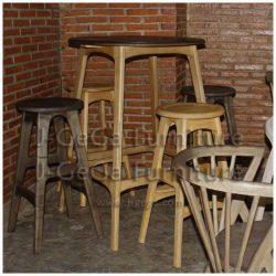 meja bar natanael set stool emilio untuk cafe dan resto