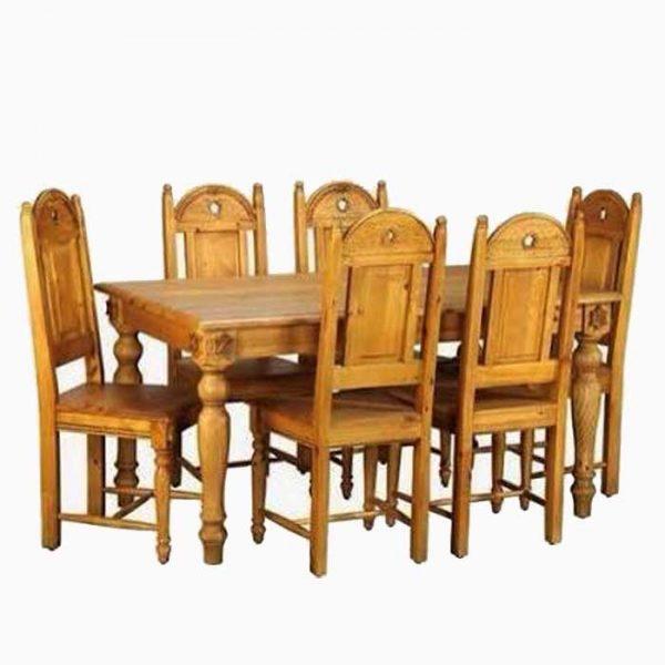 meja makan set 6 kursi makan model kolonial