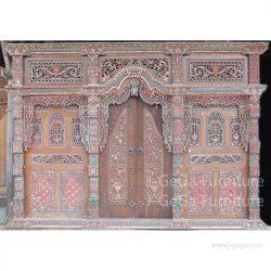pintu rumah gebyok ukiran kota jepara