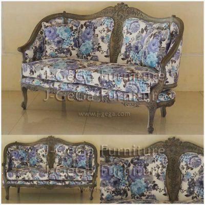 sofa anti louis 2 dudukan bantalan