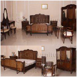 tempat tidur pengantin set antik ukiran jepara