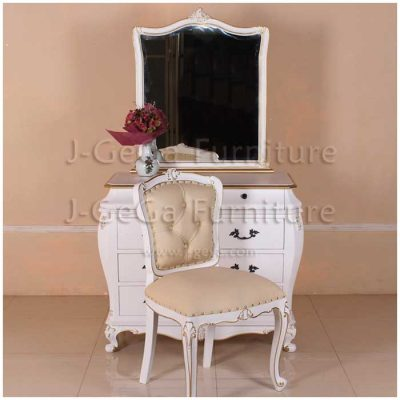 tolet meja rias antik set kursi french style