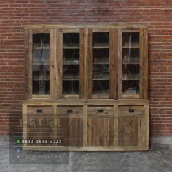 Harga Jual Texas Display Cabinet Jati Reclaimed