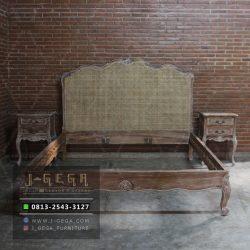 Tempat Tidur Hamilton Bed Cane NRT-03 Teak