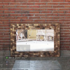 Harga Jual Reclaimed Teak Root Rectangular Mirror