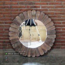Harga Jual Reclaimed Teak Root Round Mirror