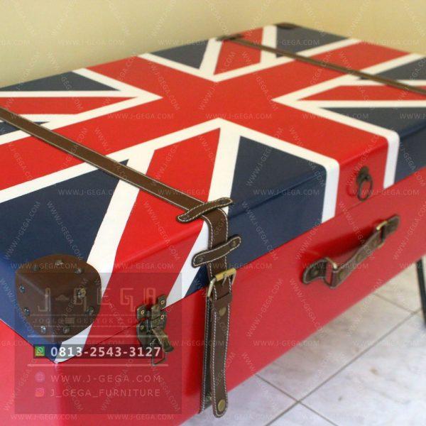 Harga Jual English Flag Box Coffee Table Industrial
