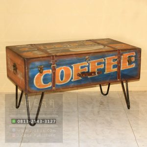 Pusat Jual Blue Vintage Box Coffee Table
