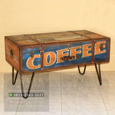 Pusat Jual Blue Vintage Box Coffee Table