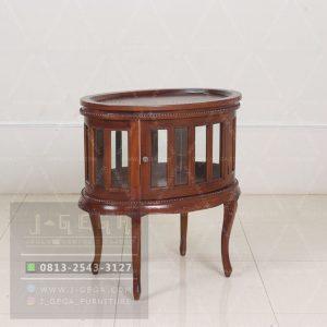 Harga Jual Oval Tea Table Mahogany Carved