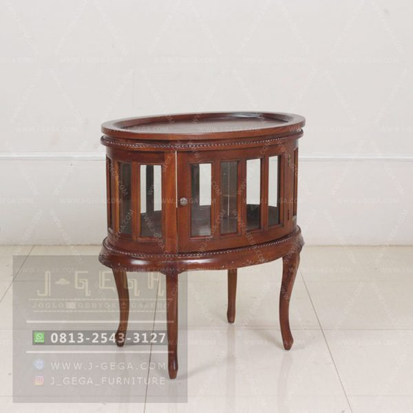 Harga Jual Oval Tea Table Mahogany Carved
