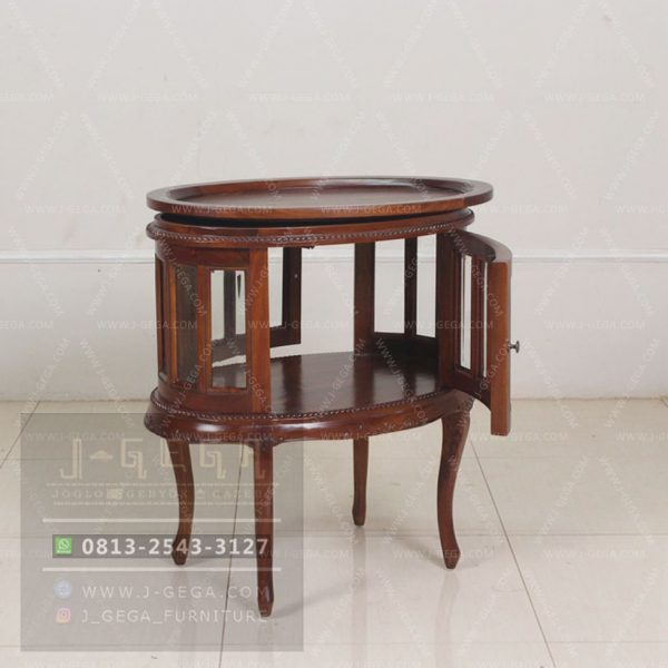 Harga Jual Oval Tea Table Mahogany Indonesia