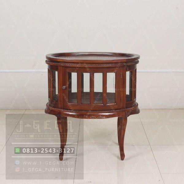 Harga Jual Oval Tea Table Mahogany Jepara