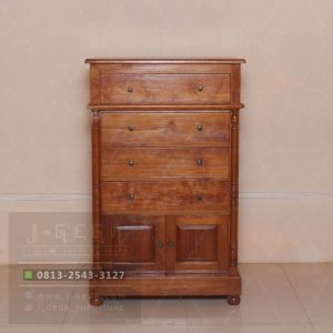 Pusat Jual Classic Chest 4 Drawers 2 Door