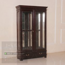 Pusat Jual Louis Diplay Cabinet 2 Door Glass
