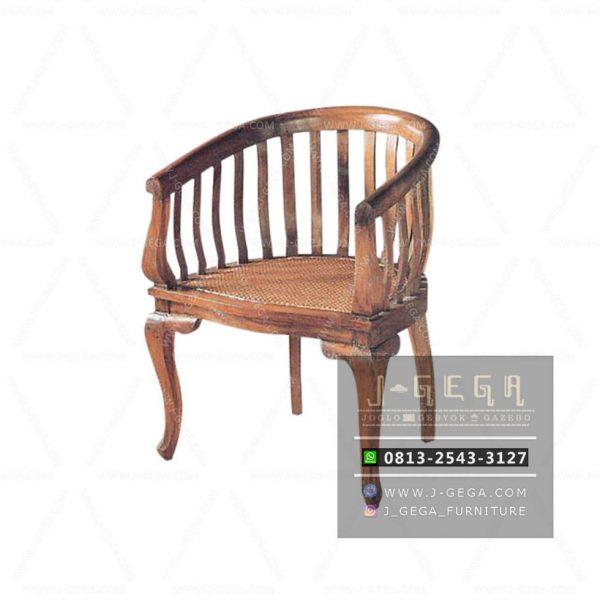 Betawi Chair 1 Seater (MAC 024) - Kursi Betawi Jati