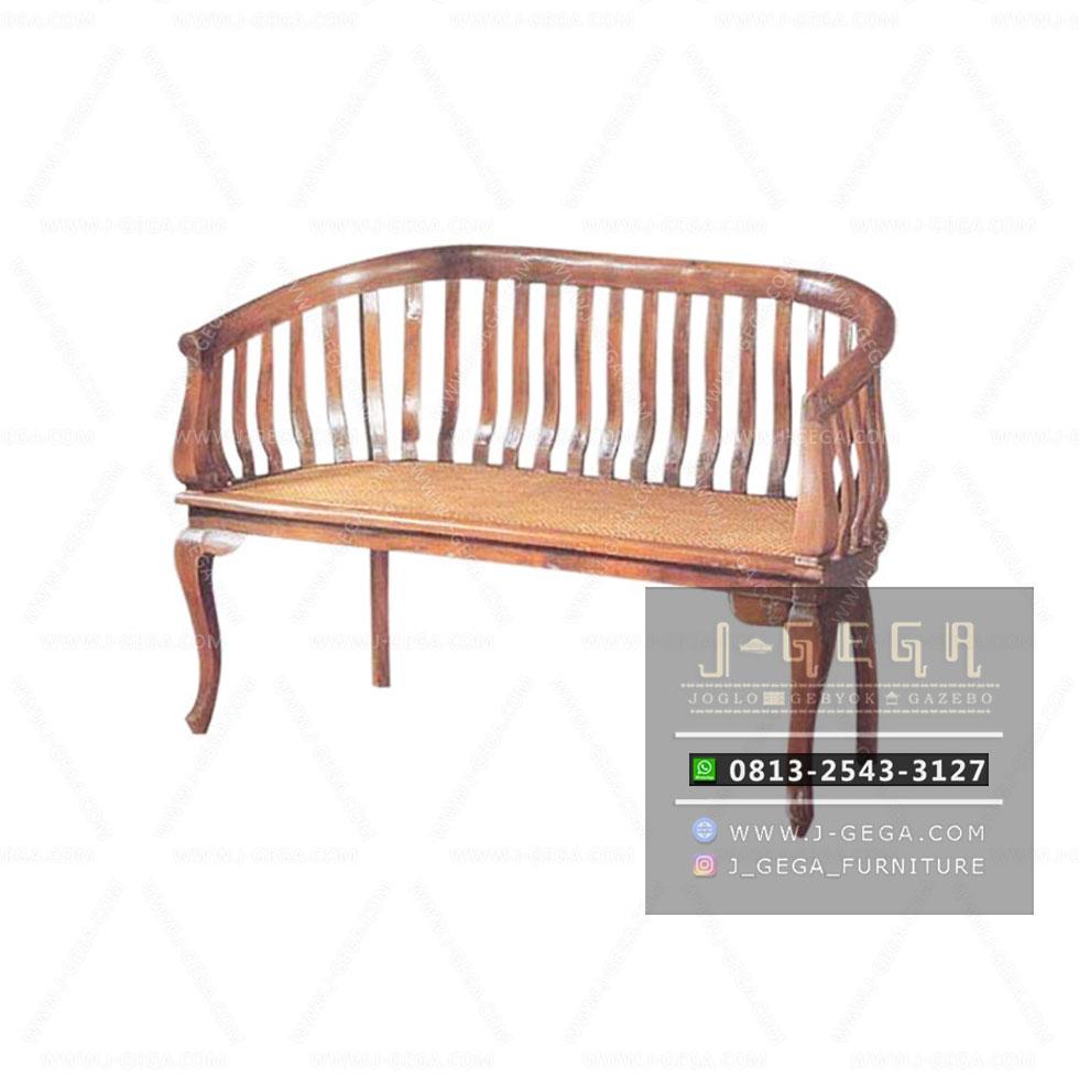 Teak Betawi Chair 2 Seater (MBN 005)
