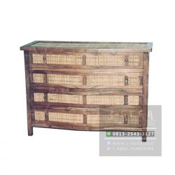4 Drawer Bamboo Dresser (MBS 004)