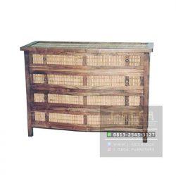 4 Drawer Bamboo Dresser (MBS 004)